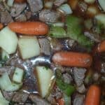 Beef stew in crockpot