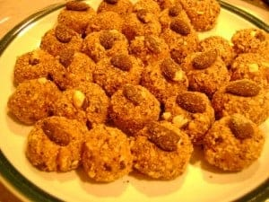 Low-Carb Peanut Butter Balls on a Plate