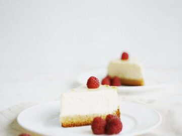 Cheesecake Tips and Techniques - Plated cheesecake slices