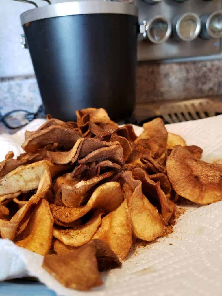 Parsnip Chips on a Plate