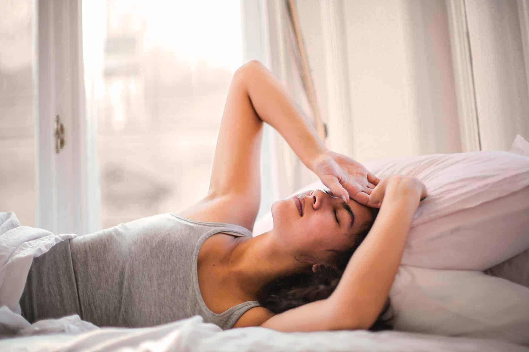 Cheating on Keto: Woman Sick in Bed