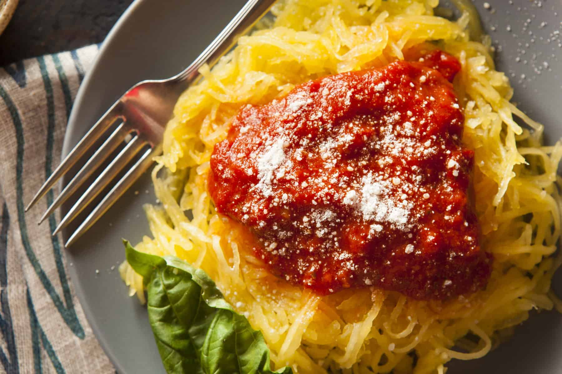 Tuna and Tomato Spaghetti Squash