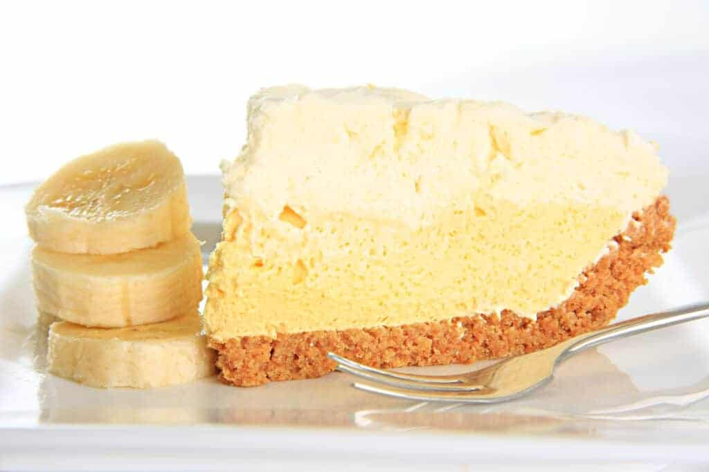 Banana Cream Pie (Keto, GF, Low-Iron, Vegetarian)