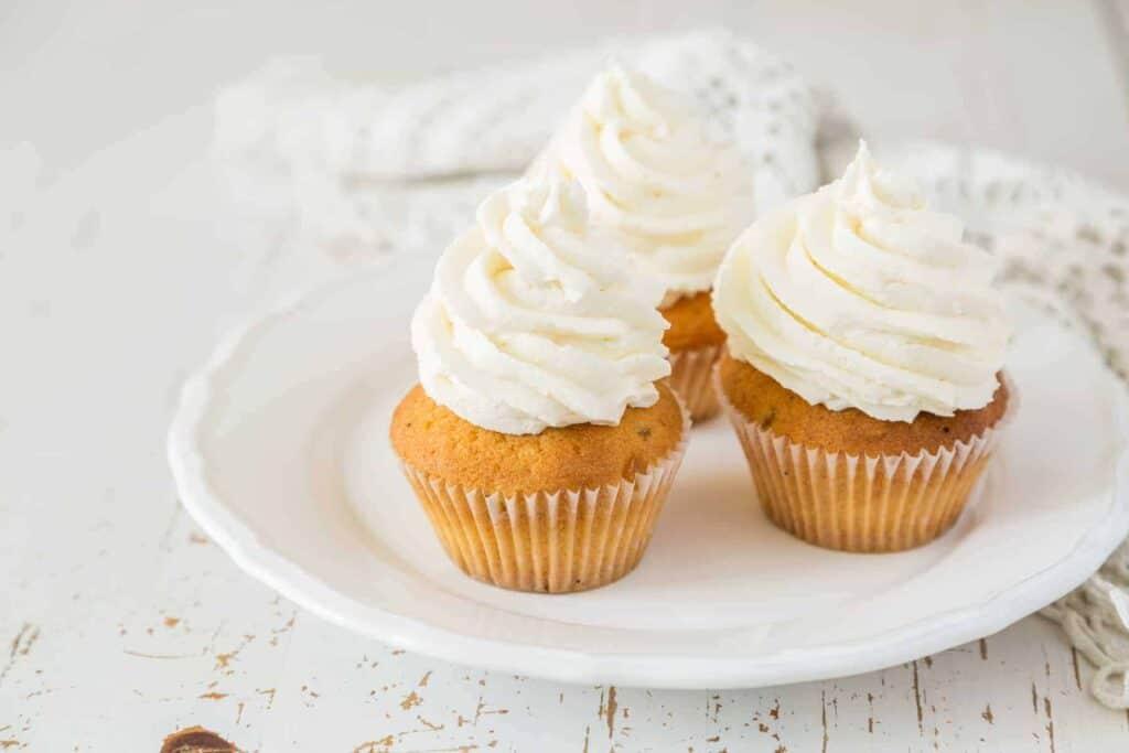 Vanilla Frosted Buttercream Cupcakes (GFDF, Keto, Low-Iron)