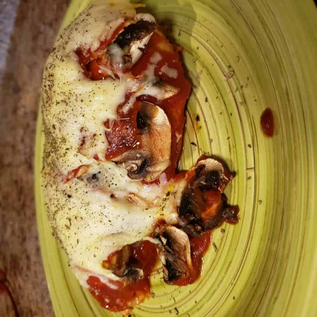 Pepperoni Mushroom Pizza Chicken (GF, Keto, Low Iron)